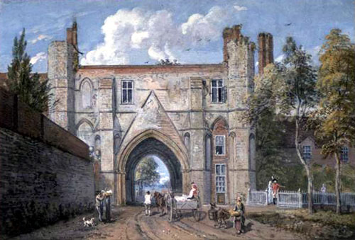 Reading Abbey Gateway ( Paul Sandby)