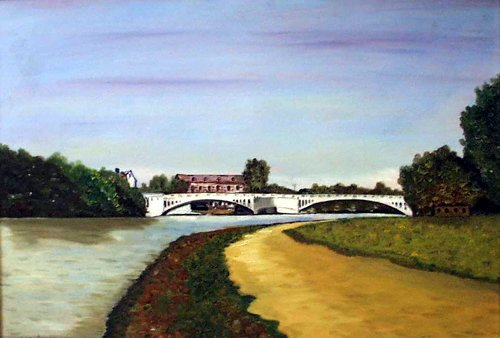 A View of Caversham Bridge from the Promenade ( W R Higgs)